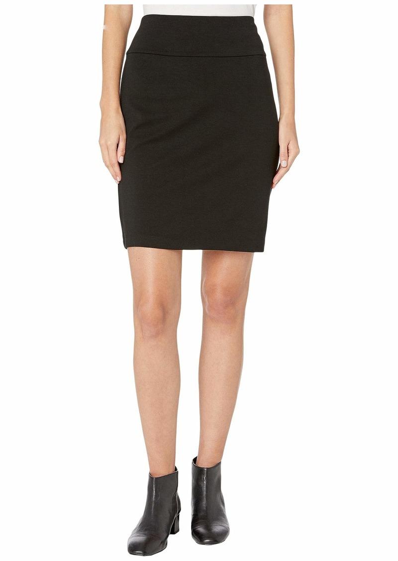 Eileen Fisher Tencel Ponte Knee Length Skirt