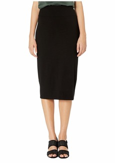 Eileen Fisher Tencel Ponte Midi Slim Skirt