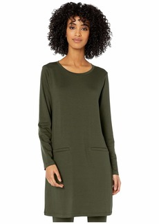 Eileen Fisher Tencel Stretch Terry Roadneck Tunic Dress