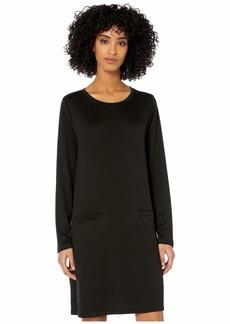 Eileen Fisher Tencel Stretch Terry Roadneck Tunic Dress
