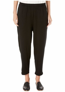 Eileen Fisher Tencel Stretch Terry Slouchy Ankle Pants with Pockets