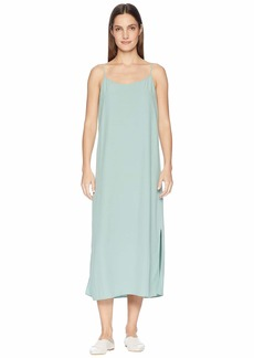 Eileen Fisher Tencel Viscose Crepe V-Neck Cami Dress