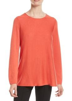 Eileen Fisher Petite Tencel®/Silk Round-Neck Sweater