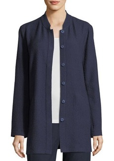 Eileen Fisher Textural Cotton Stretch Jacket  Petite