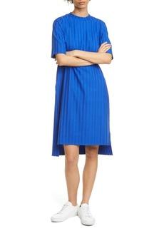 Eileen Fisher Texture Stripe T-Shirt Dress