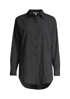 Eileen Fisher Textured Longline Shirt
