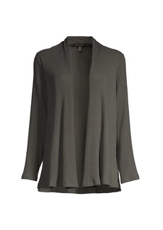 Eileen Fisher Textured Open-Front Jacket
