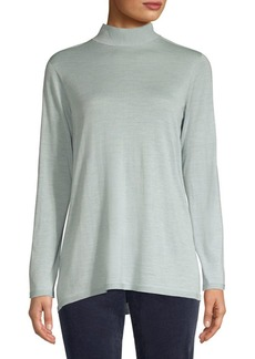 Eileen Fisher Tie-Back Collar Sweater