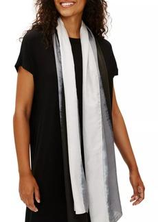 Eileen Fisher Tonal Silk Scarf