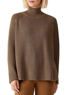 Eileen Fisher Turtleneck Raglan Top