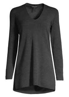 Eileen Fisher Ultra-Fine Merino Wool Longline Top
