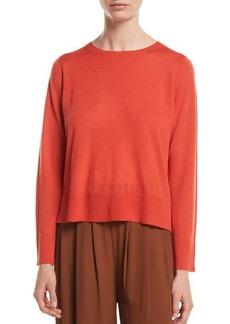 Eileen Fisher Petite Ultrafine Merino Wool Boxy Sweater