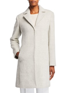 Eileen Fisher Undyed Alpaca Plush Coat
