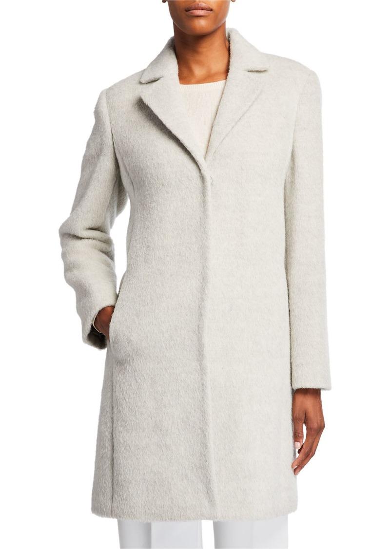 Eileen Fisher Undyed Alpaca Plush Coat