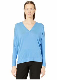 Eileen Fisher V-Neck Elongated Top