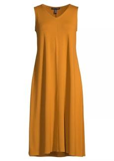 Eileen Fisher V-Neck Flare Dress