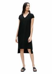 Eileen Fisher V-Neck High-Low Dress