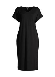 Eileen Fisher V-Neck Mid-Length Dress