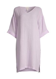 Eileen Fisher V-Neck Organic Cotton Dress