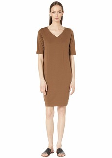Eileen Fisher V-Neck Shift Dress