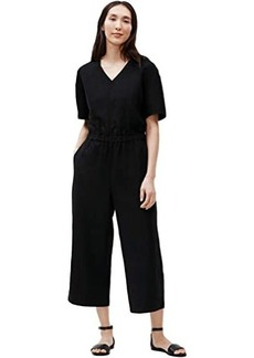 Eileen Fisher V-Neck Short Sleeve Jumpsuit