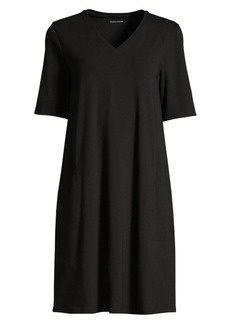 Eileen Fisher V-neck T-Shirt Dress