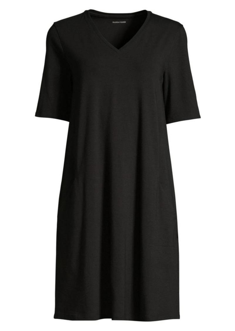 Eileen Fisher V-neck T-Shirt Dress