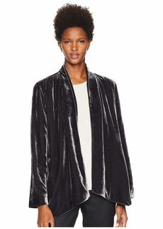 Eileen Fisher Velvet Angled Shaped Jacket