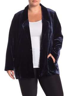 Eileen Fisher Velvet Blazer (Plus Size)
