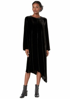 Eileen Fisher Velvet Crew Neck Dress