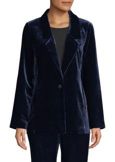 Eileen Fisher Velvet Draped Jacket