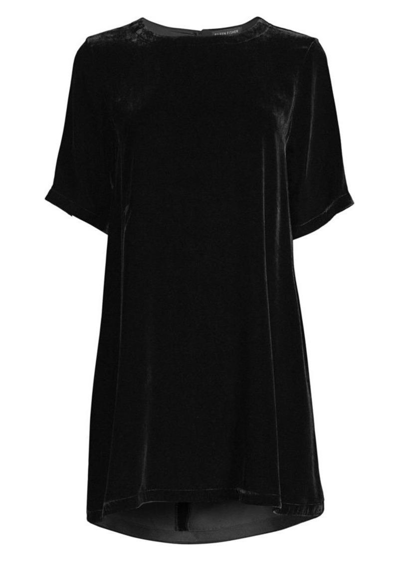 Eileen Fisher Velvet Mini Shift Dress