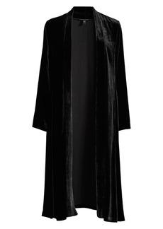 Eileen Fisher Velvet Open-Front Shawl
