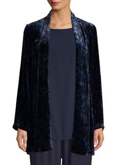 Eileen Fisher Velvet Shawl Collar Jacket