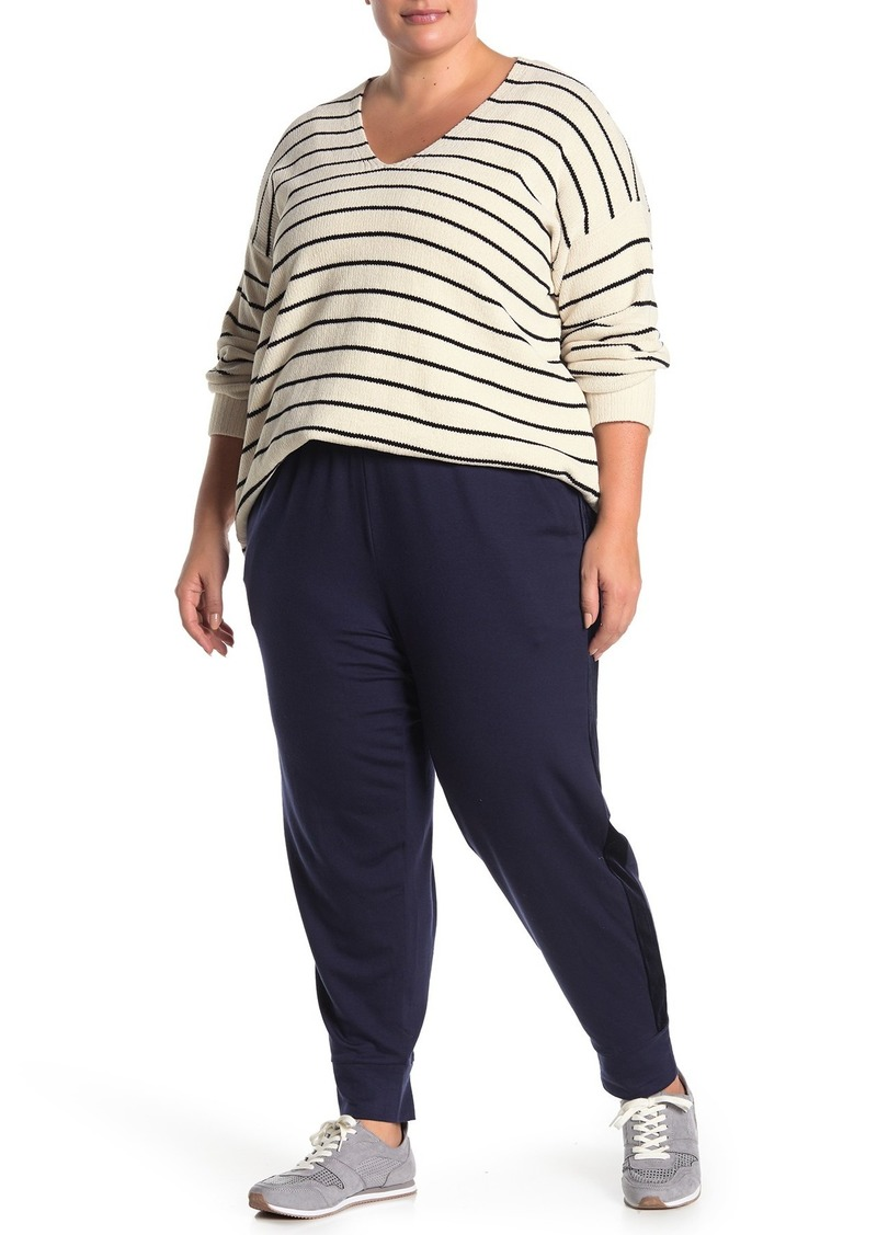 Eileen Fisher Velvet Trim Track Pants (Plus Size)