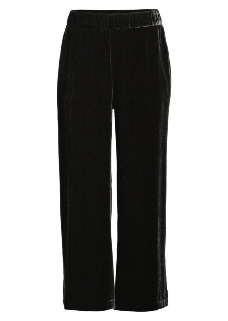 Eileen Fisher Velvet Wide-Leg Pants