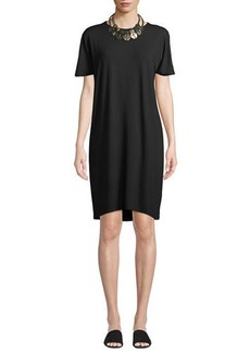Eileen Fisher Viscose Jersey Shift Dress