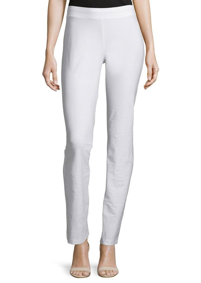 Eileen Fisher Washable-Crepe Boot-Cut Pants  White