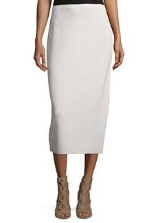 Eileen Fisher Washable Silk/Cotton Midi Pencil Skirt