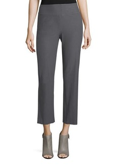 Eileen Fisher Washable Stretch Crepe Boot-Cut Pants