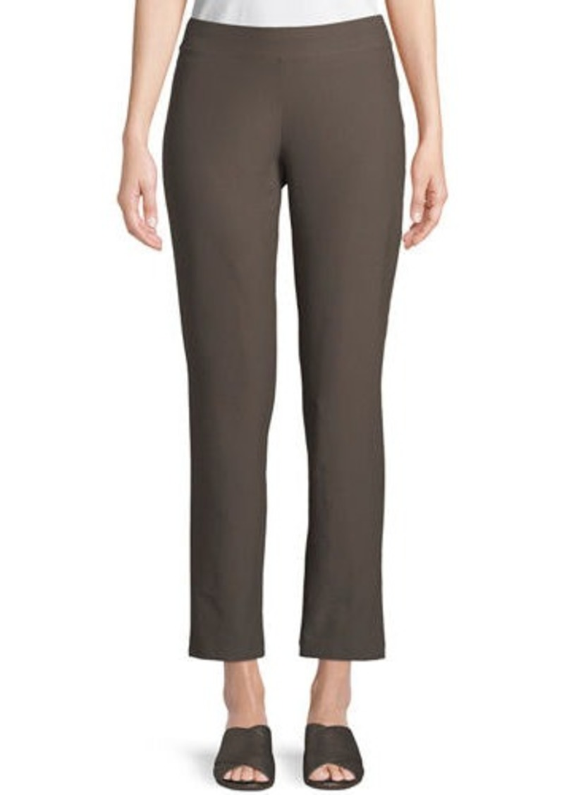 Eileen Fisher Plus Size Washable Stretch-Crepe Slim Ankle Pants