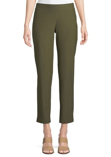 Eileen Fisher Washable Stretch Crepe Slim Ankle Pants