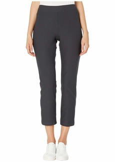 Eileen Fisher Washable Stretch Crepe Slim Ankle Pants w/ Side Zipper
