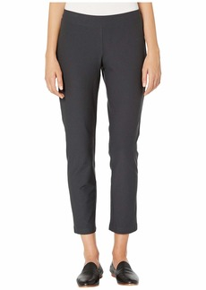 Eileen Fisher Washable Stretch Crepe Slim Ankle Pants w/ Yoke