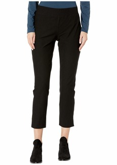 Eileen Fisher Washable Stretch Crepe Slim Cropped Pants w/ Side Slits