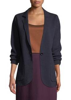 Eileen Fisher Washable Wool Crepe Blazer Jacket