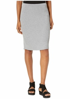 Eileen Fisher Washable Wool Rib Knee Length Skirt