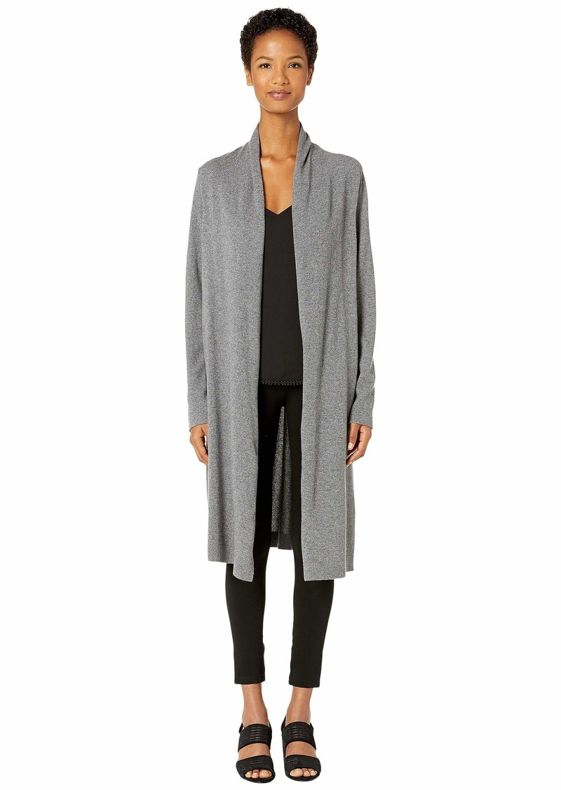 Eileen Fisher Washable Wool Rib Long Cardigan