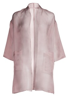 Eileen Fisher Washed Silk Organza Kimono Jacket