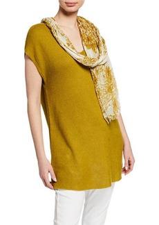 Eileen Fisher Watercolor Cotton Gauze Scarf